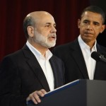 obama and bernanke 150x150 Instead Of Auditing The Fed Obama Reappoints Bernanke