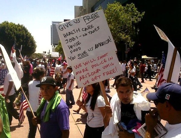 Illegal Immigration Protesters The Truth About Illegal Immigration