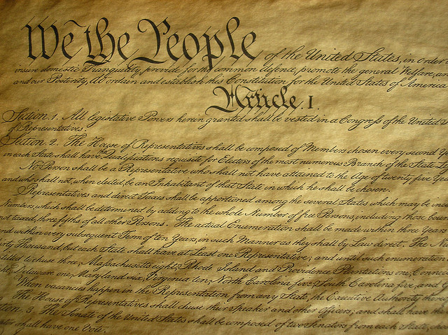 u s constitution We, the people of the united states, in order to form a more perfect union,  do  ordain and establish this constitution for the united states of america the.