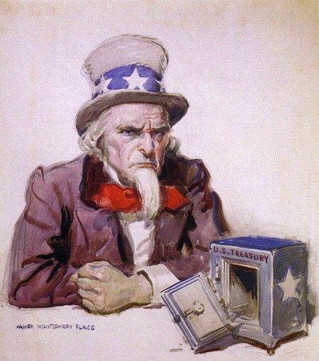 Uncle Sam Is Broke 450x509 21 Facts About Rising Government Dependence In America That Will Blow Your Mind