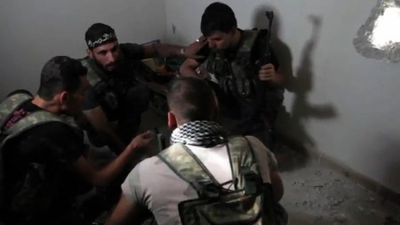 Syrian Rebels in Aleppo Syria 450x253 False Flag Alert: Do Syrian Rebels Plan To Hit Israel With Chemical Weapons And Blame Assad?
