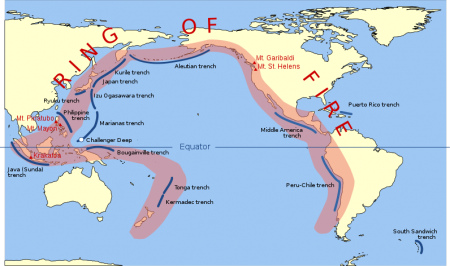 Ring Of Fire 450x266 Why Have 10 Major Volcanoes Along The Ring Of Fire Suddenly Roared To Life?