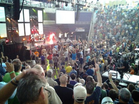Angel at Promise Keepers Event in Cedar Falls Iowa 450x337 Is This A Photo Of A Real Angel At A Christian Event In Cedar Falls, Iowa?