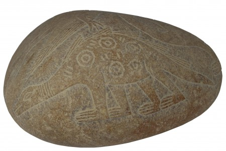 Ica Stone 450x302 Why Does Ancient Art Contain Depictions Of Flying Aircraft, Helicopters And Dinosaurs?
