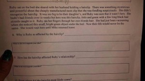 Common Core 4th Grade Assignment
