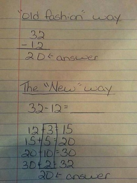 You Won't Believe The Method That Common Core Is Using To Teach Our Kids Subtraction Common Core Subtraction 450x600